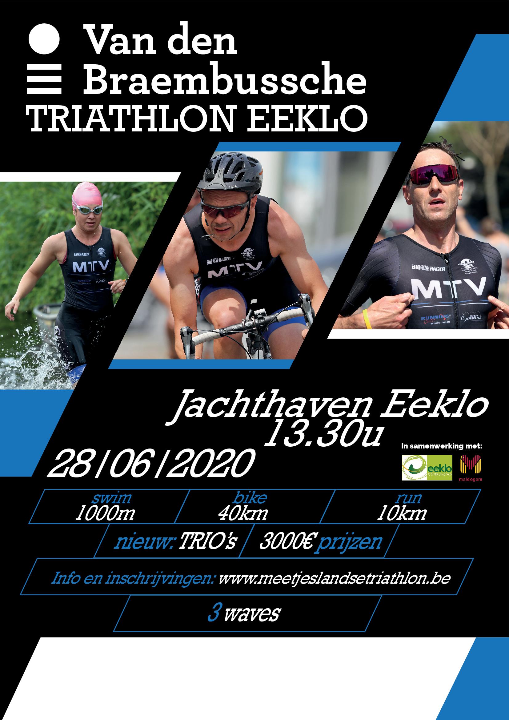 Affiche triathlon Eeklo 2020